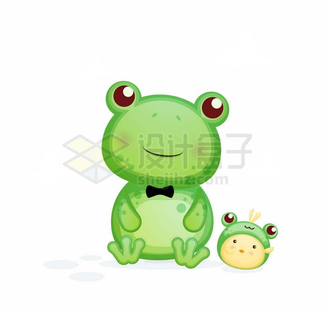 超可爱的卡通青蛙和宝宝3356023矢量图片免抠素材