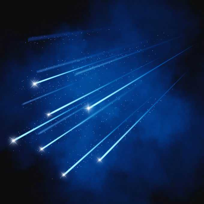 蓝色夜晚星空中的白色星轨流星效果快速飞行的光效果3192107图片免抠素材免费下载