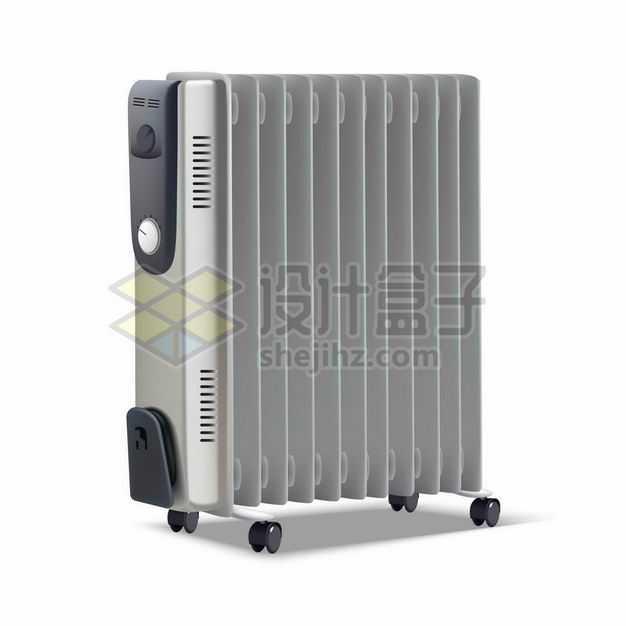银灰色不锈钢电加热器散热器家用电器4162010矢量图片免抠素材