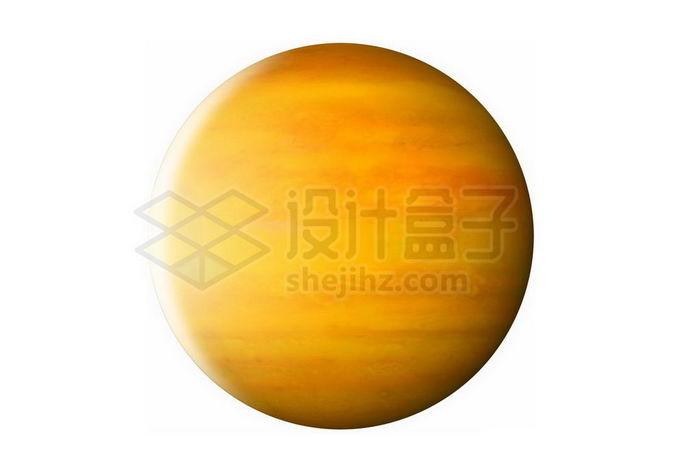 一颗金黄色的气态巨行星热木星系外行星png免抠高清图片素材 科学地理-第1张