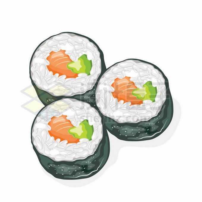 3款卷寿司美味日式美食4734172矢量图片免抠素材