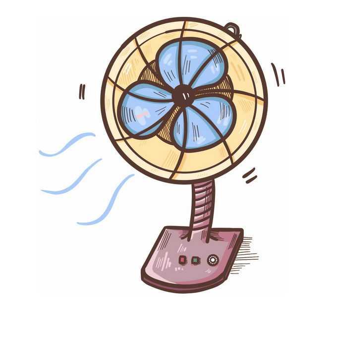 手绘风格卡通电风扇台扇7725187图片免抠素材免费下载