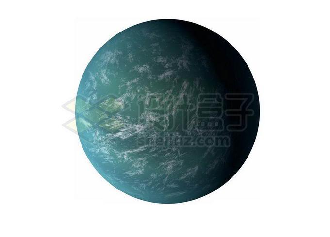 一颗绿色的宜居星球超级地球系外行星png免抠高清图片素材 科学地理-第1张