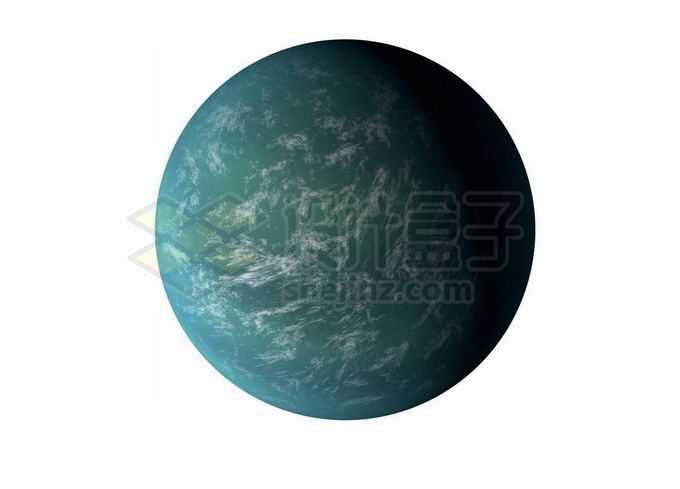 一颗绿色的宜居星球超级地球系外行星png免抠高清图片素材