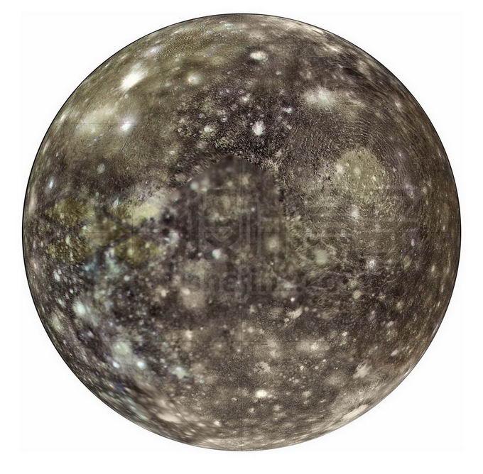 木星卫星木卫四表面地形图png免抠高清图片素材 科学地理-第1张