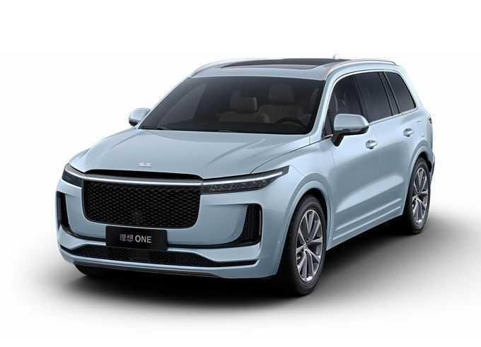 蓝色理想ONE智能电动SUV汽车png免抠图片素材
