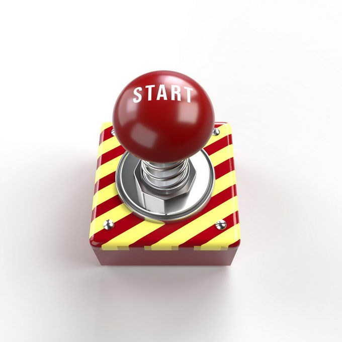 金属底座上的红色紧急按钮7051523免抠图片素材免费下载 按钮元素-第1张