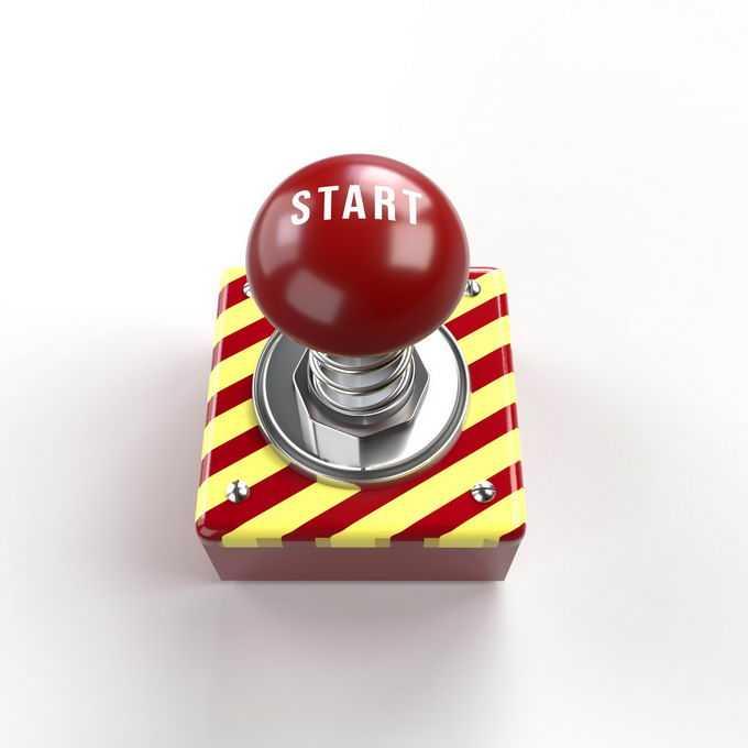 金属底座上的红色紧急按钮7051523免抠图片素材免费下载