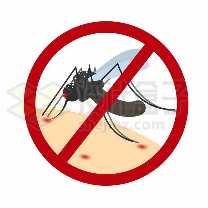 预防蚊子叮咬夏天灭蚊标志1443783矢量图片免抠素材免费下载