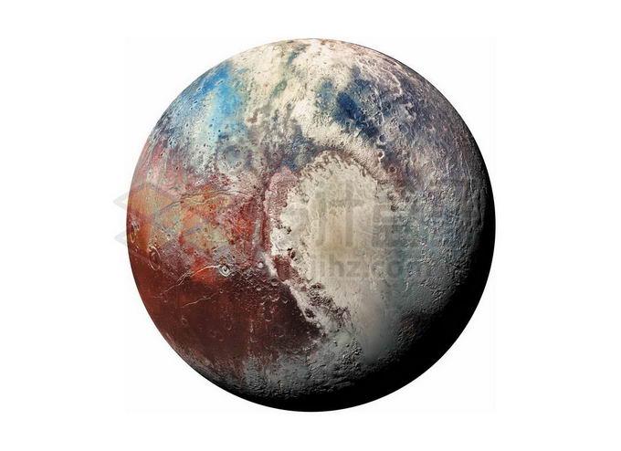 彩色的冥王星矮行星png免抠高清图片素材 科学地理-第1张