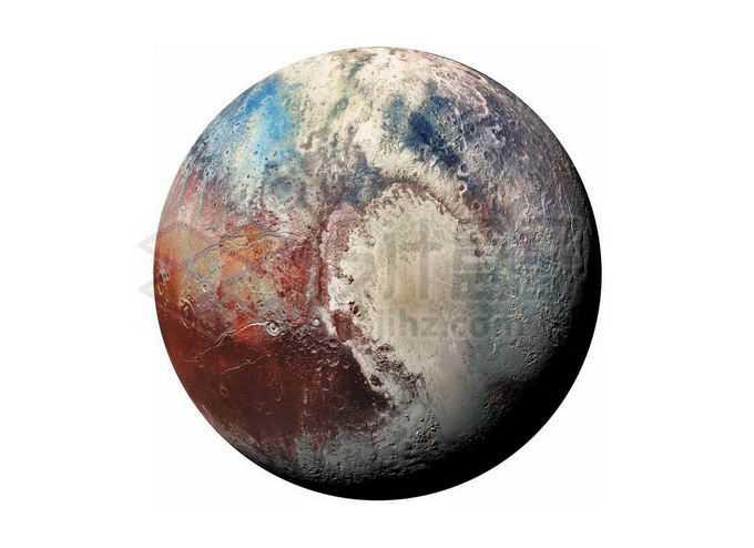 彩色的冥王星矮行星png免抠高清图片素材