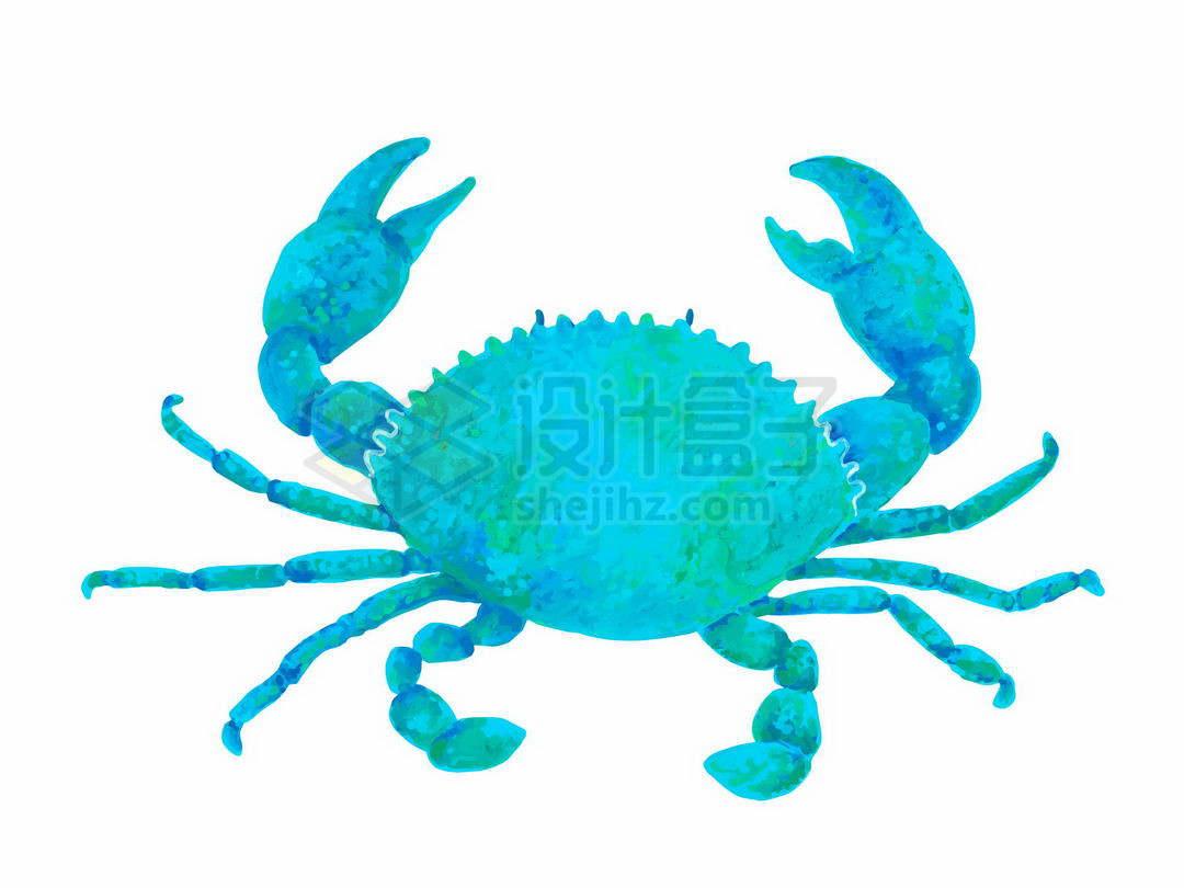 一只蓝色的青螃蟹海洋动物2651265矢量图片免抠素材