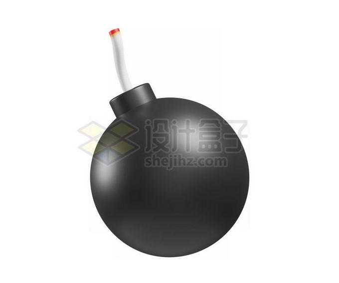 3D立体风格卡通炸弹圆球炸弹模型1994140免抠图片素材 军事科幻-第1张
