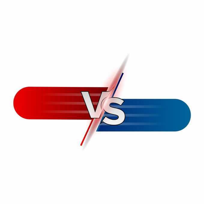 红色蓝色游戏体育VS字母对比文本框7013142矢量图片素材