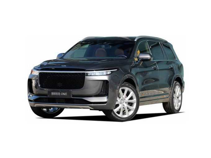 绿色的理想ONE智能电动SUV汽车png免抠图片素材
