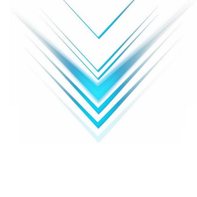 蓝色线条组成的科技风格方向箭头装饰6202213图片免抠素材免费下载 线条形状-第1张