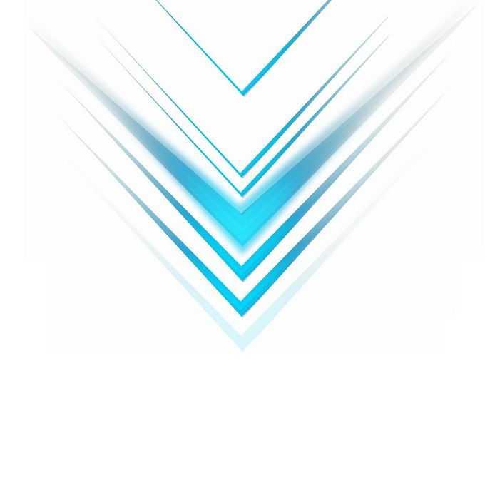蓝色线条组成的科技风格方向箭头装饰6202213图片免抠素材免费下载