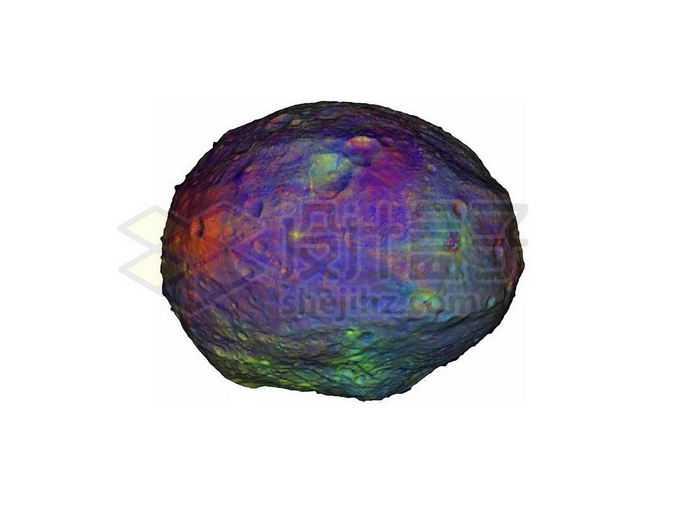 伪彩色的灶神星小行星png免抠高清图片素材