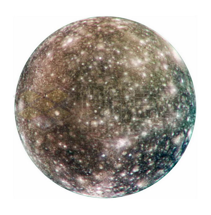 太阳系第三大卫星木星卫星木卫四png免抠高清图片素材 科学地理-第1张