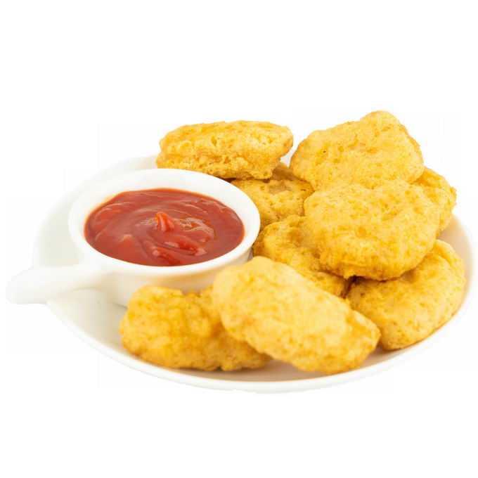 一盘黄金炸鸡块美味美食png免抠图片素材