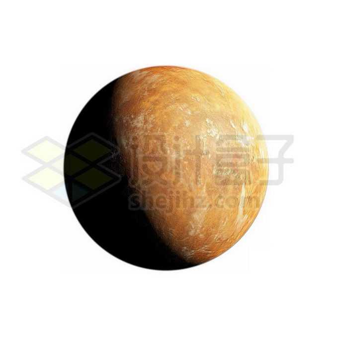 一颗黄色的沙漠岩石星球超级地球系外行星png免抠高清图片素材