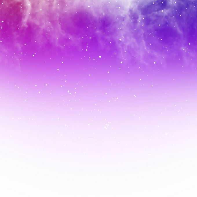 紫红色星空和白色的星云繁星点点装饰效果8395155矢量图片免抠素材