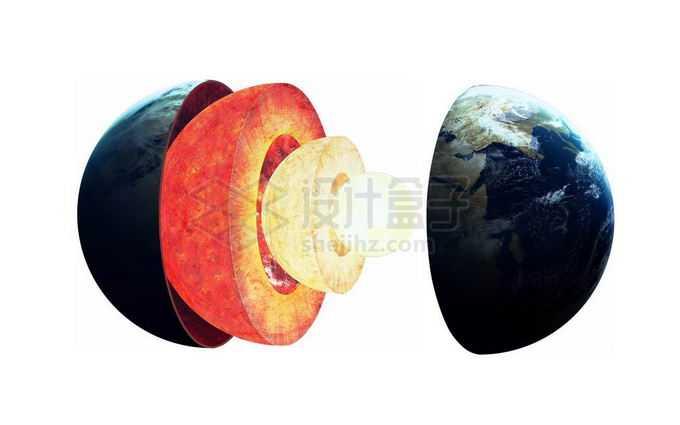 剖开的地球内部结构地壳地幔地核分层展示1204033png免抠图片素材