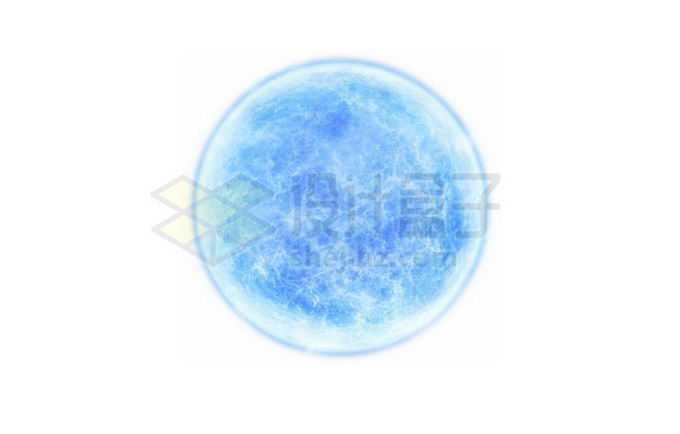 一颗发出蓝白色光的恒星蓝超巨星png免抠高清图片素材