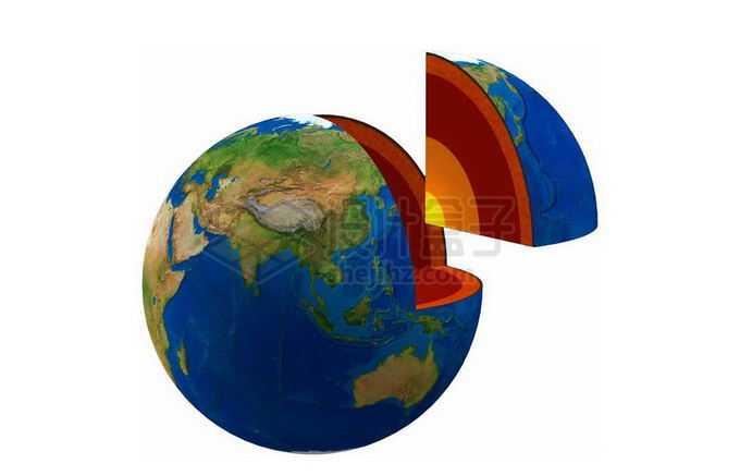 切开一块的地球内部结构地壳地幔地核6343718png免抠图片素材