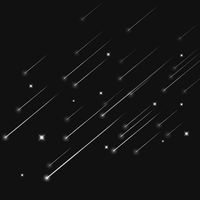 夜晚星空中的白色星轨流星效果快速飞行的光效果9346247图片免抠素材免费下载 效果元素-第1张