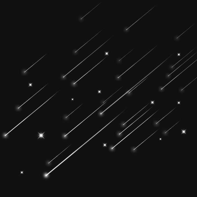 夜晚星空中的白色星轨流星效果快速飞行的光效果9346247图片免抠素材免费下载