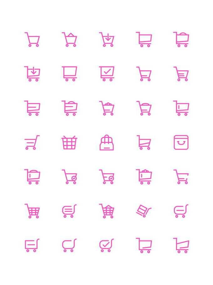 35款红色超市购物车图标线条图标5307397免抠图片素材