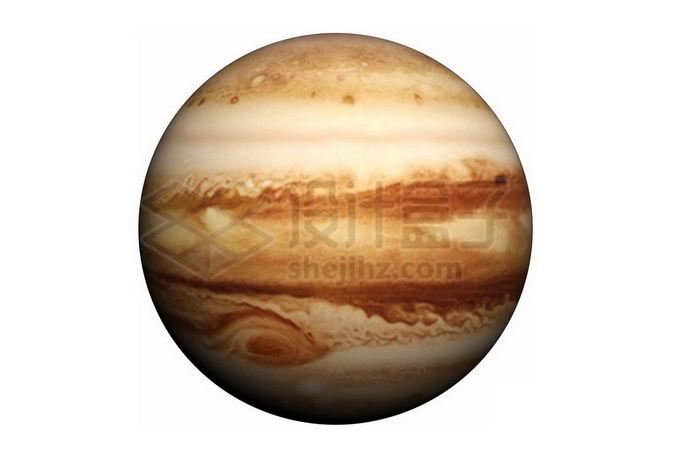 黄褐色的太阳系最大行星木星png免抠高清图片素材 科学地理-第1张