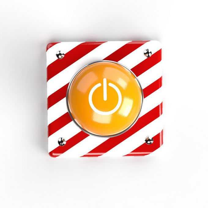 金属底座上的红色紧急按钮6692120免抠图片素材免费下载