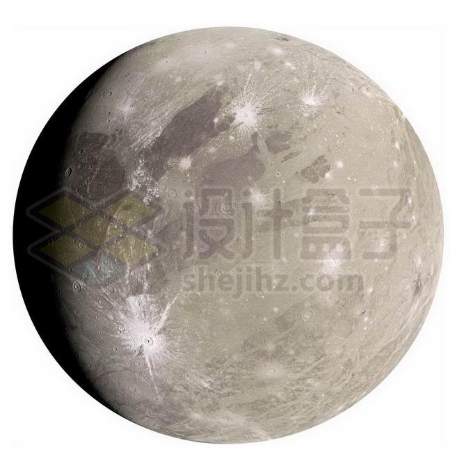 木星卫星木卫三表面细节图png免抠高清图片素材 科学地理-第1张
