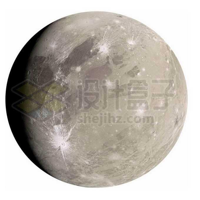 木星卫星木卫三表面细节图png免抠高清图片素材