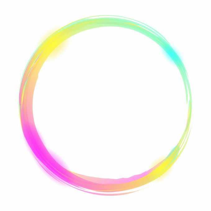 各种彩色涂鸦风格圆环装饰8299632矢量图片素材