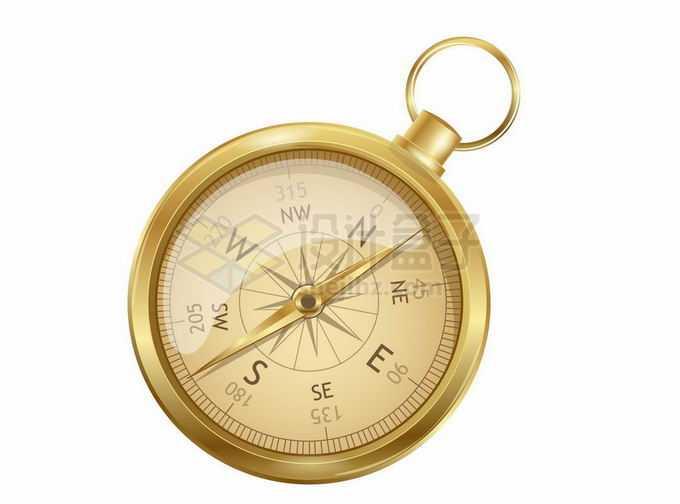 一块金色表壳的复古指南针8806378矢量图片免抠素材免费下载