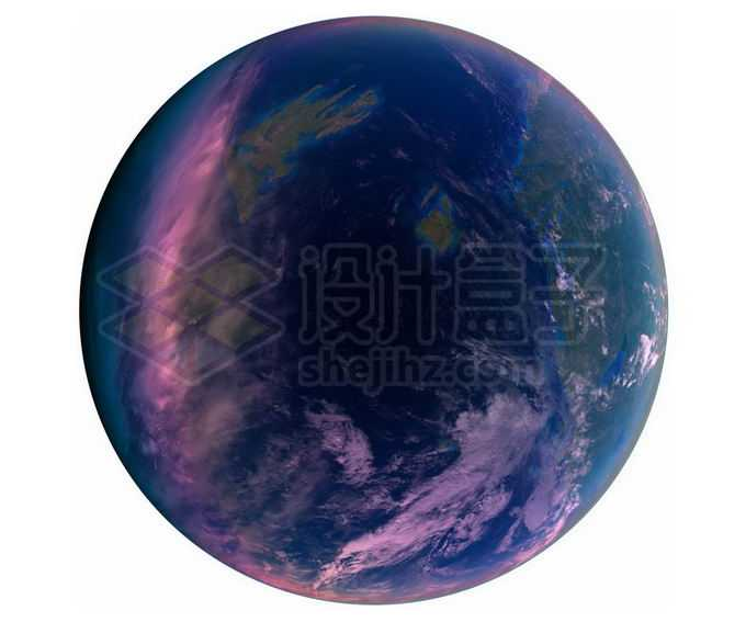 一颗拥有大气层和海洋的超级地球系外行星png免抠高清图片素材