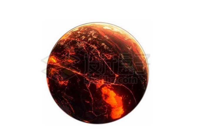 一颗充满红色岩浆海洋的系外行星png免抠高清图片素材