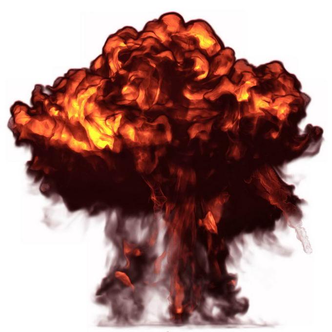逼真的爆炸产生的火球滚滚浓烟蘑菇云效果9476579矢量图片免抠素材 效果元素-第1张
