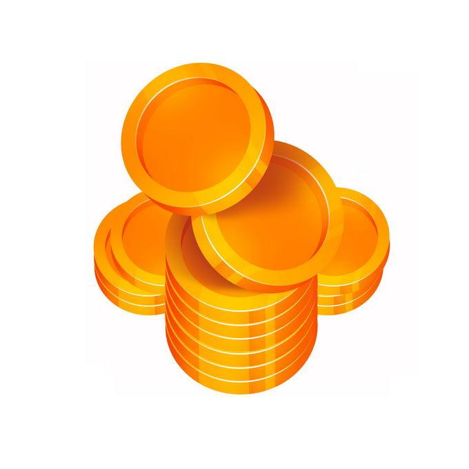 摆放整齐的一小堆空白图案的金币硬币1074717图片免抠素材免费下载 金融理财-第1张