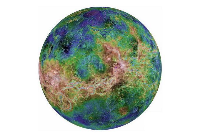 伪彩色金星png免抠高清图片素材 科学地理-第1张