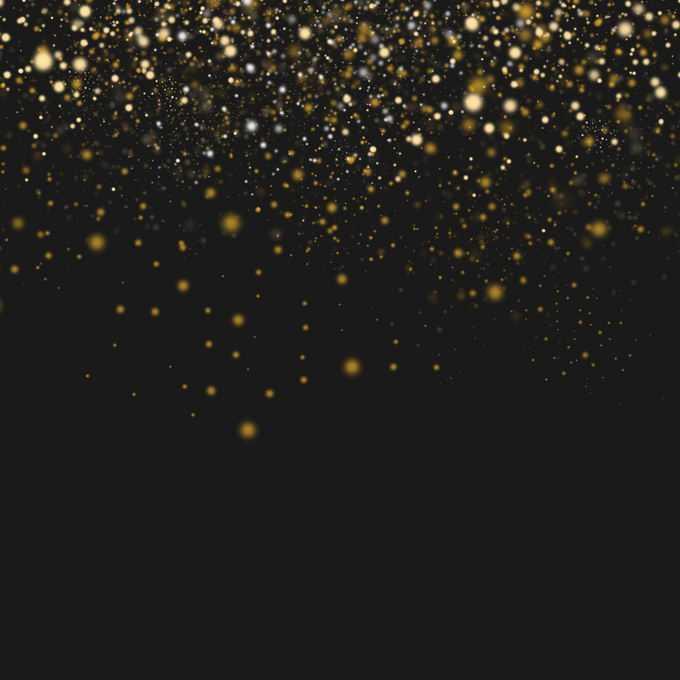 大量的金色光点光斑光效果装饰8117881图片免抠素材免费下载
