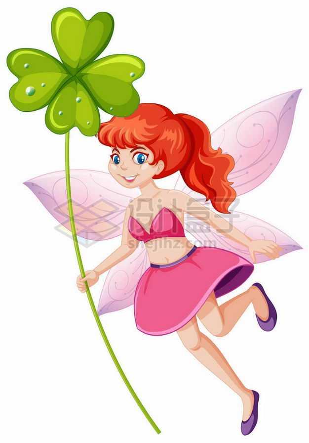 拿着四叶草的花仙子卡通仙女3186343矢量图片免抠素材