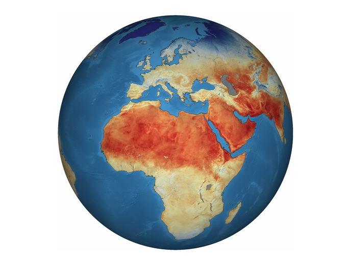 蓝色地球上的沙漠分布图8106680png免抠图片素材 科学地理-第1张
