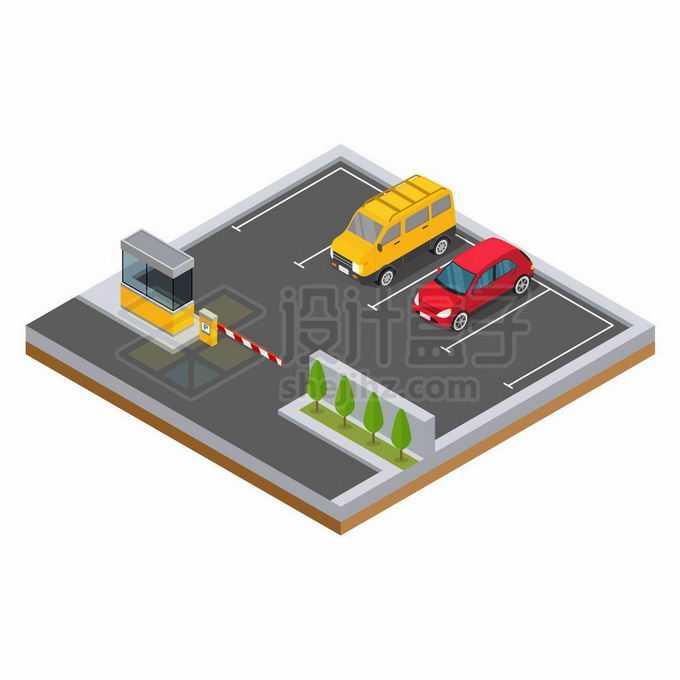 2.5D风格汽车停车场收费系统4340240矢量图片免抠素材免费下载