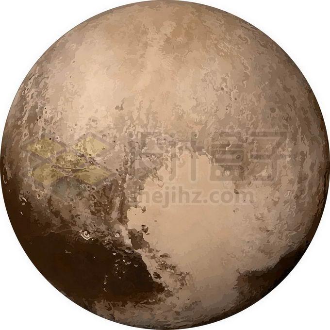 曾经的太阳系第九大行星冥王星png免抠高清图片素材 科学地理-第1张