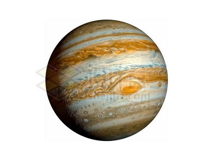 彩色木星可见大红斑png免抠高清图片素材 科学地理-第1张