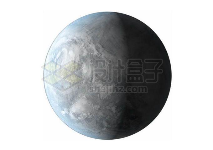 一颗冰冻星球超级地球系外行星png免抠高清图片素材 科学地理-第1张